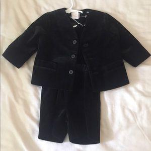 Eiseman black velvet boys 18 mo suit and coat